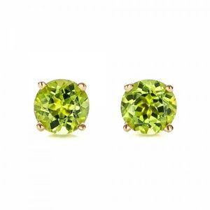 Jewelry - Genuine 10 K Gold Peridot Gemstone Earrings